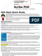 The APA Quick Study