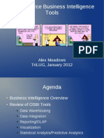 Open Source Business Intelligence Tools