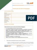 informe pedagogico elaboracion