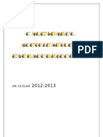 Calendarul activitatilor extracurriculare 2012-2013