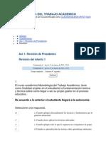 Metodologia Del Trabajo Academico Act # 1