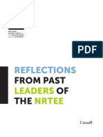 Reflections from Past Leaders of the NRTEE