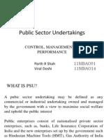 37 PSUs – control, management & performance