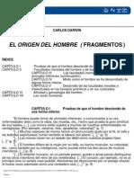 Darwin Charles - El Origen Del Hombre (Fragmentos)