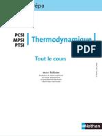 Tout Le Cours - Thermodynamique PCSI MPSI PTSI