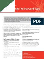 Referencing the Harvard Way
