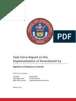 Colorado Amendment 64 Implementation Report