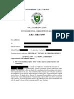 Julia Thomson's Internship Assessment