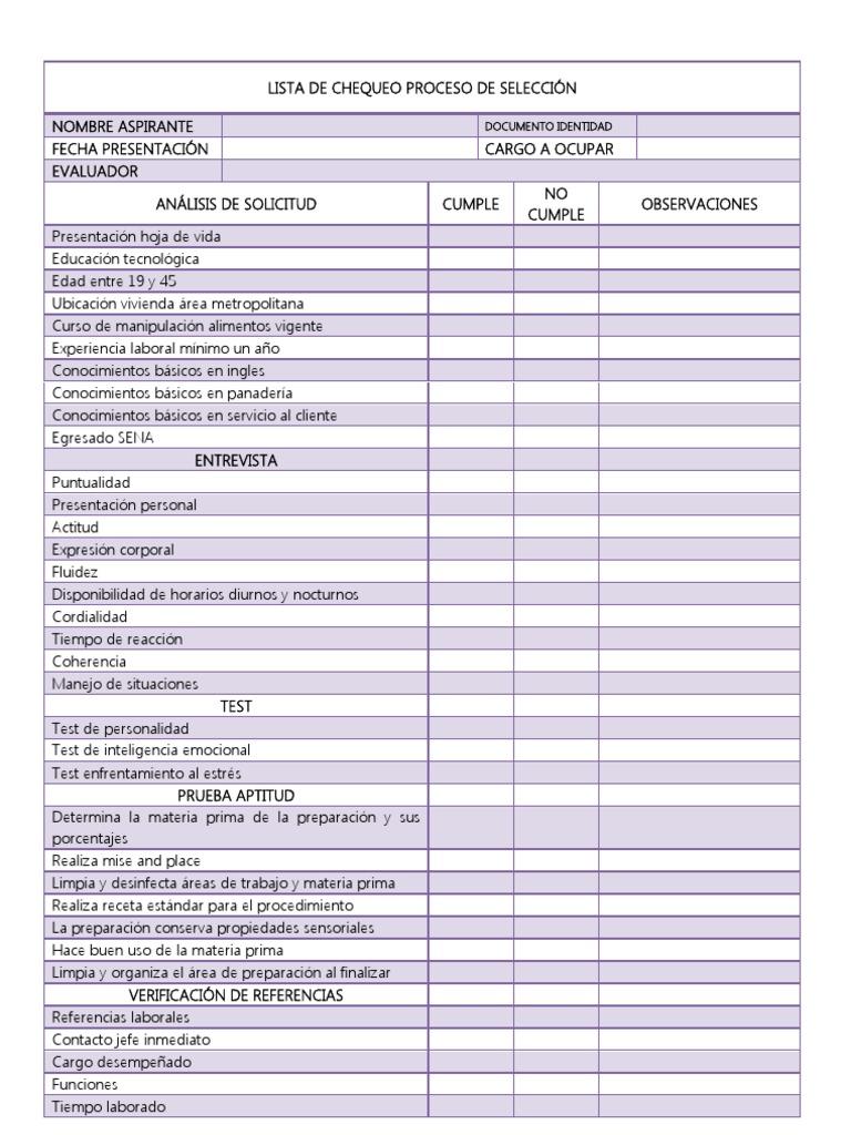 Encantador Plantilla De Lista De Verificación De Inspección ...