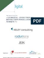 """Club Digital Compte Rendu  table ronde """"Le Digital,  évolution ou Revolution pour la stratégie de marque?"""""""