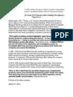 Blumenthal FDA Letter