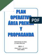 PLAN OPERATIVO DE PRENSA Y PROPAGANDA sede CAÑETE