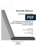 An Overview and Comparison of Design Strategies for Choice-BasedConjoint Analysis
