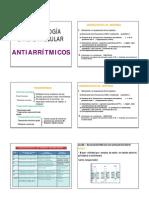 Farmacologia Cardiovascular - Antiarritmicos 2012-II
