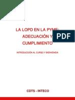 Introduccion Curso LOPD Adecuacion Cumplimiento