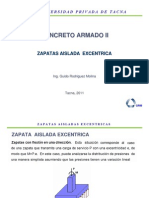 Zapatas Aisladas Excentricas