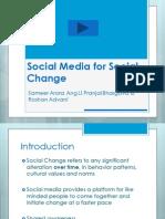 Social Media for Social Change