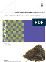 Thesis  Application of fast pyrolysis biochar to a loamy soil
