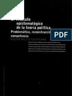El estatuto epistemológico de la teoría política. Oscar Mejia Quintana.
