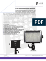 Litepanels Luma Broadcast Camera Led Light One Sheet Info