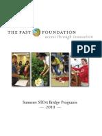 Summer STEM Bridge Programs 2010