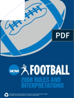 Football Rules- NCAA