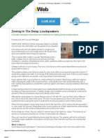 AV_ Zoning in the Delay Loudspeakers - Pro Sound Web