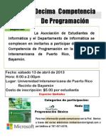 Flyer Decimas Competencias Programacion_Escuela Superior