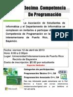 Flyer Decimas Competencias Programacion_Universidad
