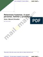 Relaciones Humanas Nivel Personal Familiar Profesional 26736