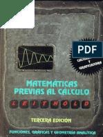 Matemáticas Previas Al Calculo, 3ed  - Leithold - FREELIBROS.COM