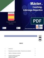 Guia del alumno 2013 -Máster en Coaching y Liderazgo Deportivo