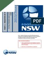 Football NSW Futsal PL/SL Expression of Interest Form