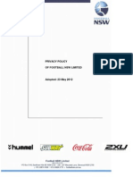 Football NSW Privacy Policy