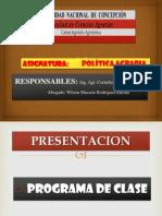 Presentacion de Politica Agraria 2013
