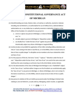 Restoring Consitutional Governance Act of Michigan