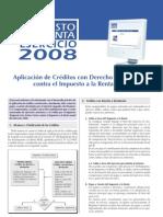 Creditos Con Derecho a Devolucion 2008