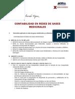 Lista de Normas Para Tendido de Gases Medicinales