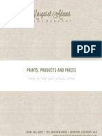 Margaret Adams Photography - Prints Products and Pricing