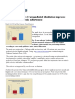Physorg.com. Research Shows Neditation Improves Academic Achievement
