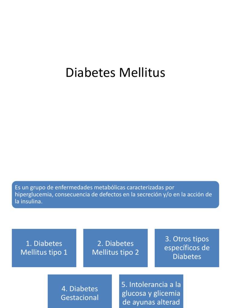diabetes otros tipos específicos