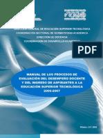 Manual de Los Procesos de Eval Del Desempe o Doc[1]. y Del Ingreso de Aspirantes a La e.s.t