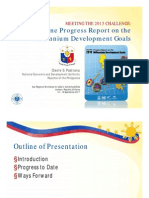 Philippines Progress Report MDG