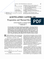 Acetylated Castor Oil - Preparation and Thermal Decomposition