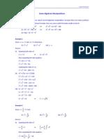 Some Algebraic Manipulation