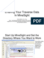 Entering Your Traverse Data in MineSight