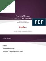 Energy efficiency in OpenStack Clouds