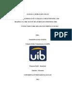 Analisa Perbandingan Laporan Keuangan PT Ultrajaya Milk Industry and Trading Co., dan PT. Multi Bintang Indonesia, Tbk.