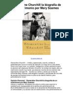 Clementine Churchill la biografía de un matrimonio por Mary Soames - 5 estrellas reseña del libro
