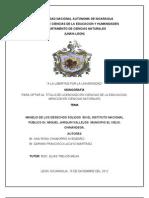 Manejo de los Desechos Sólidos en en el Instituto Dr. Miguel Jarquin Vallejos de el Viejo, Chinandega, Nicaragua
